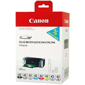 Canon CLI-42BK/GY/LGY/C/M/Y/PC/PM (8 Farger)