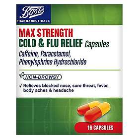 Boots Max Strength Cold & Flu Relief 16 Capsules