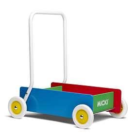 Micki Classic Lær-å-gå-vogn