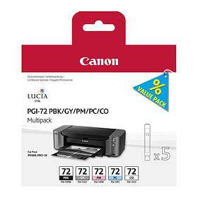 Canon PGI-72PBK/GY/PM/PC/CO (5 Farger)