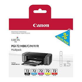 Canon PGI-72MBK/C/M/Y/R (5 Farger)