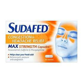 McNeil Sudafed Congestion & Headache Relief Max Strength 16 Capsules