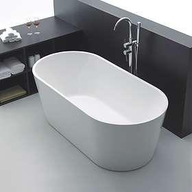 Bathlife Ideal Frittstående Rund 160x75 (Hvit)