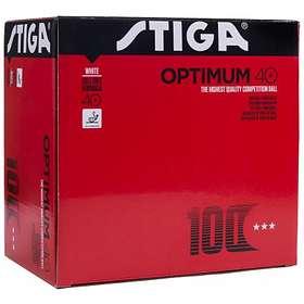 Stiga Sports Optimum 40+ 3-Star Polyball White/Orange (100 bollar)