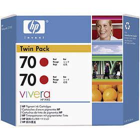 HP 70 (Röd) 2-pack