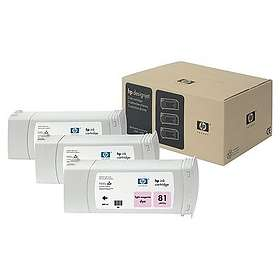 HP 81 (Ljusmagenta) 3-pack