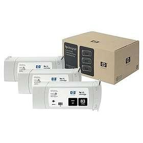HP 83 (Svart) 3-pack