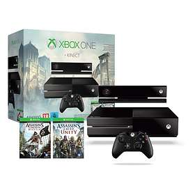 Microsoft Xbox One 500Go (+ Kinect + Assassin's Creed: Black Flag + Unity)