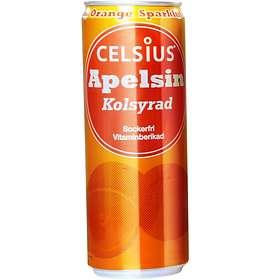 Celsius Kolsyrad Apelsin Burk 0,35l