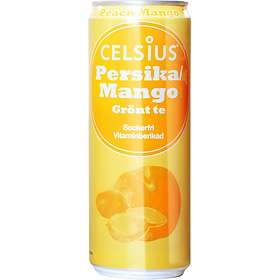 Celsius Kolsyrad Persika/Mango Burk 0,35l