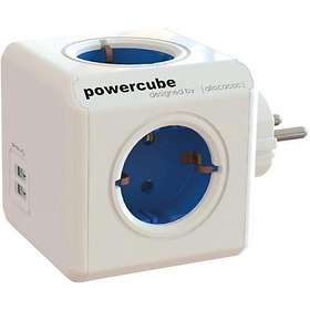 Allocacoc PowerCube Original 4-Way 2xUSB