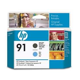 HP 91 Printhead (Mattsvart/Cyan)