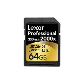 Lexar Professional SDXC Class 10 UHS-II U3 2000x 64GB