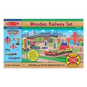 Melissa & Doug Wooden Railway Set 701