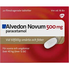 GSK GlaxoSmithKline Alvedon Novum 500mg 20 Tabletter
