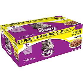 Whiskas Pouches Adult Jelly 40x0.1kg