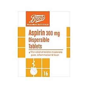 Boots Aspirin 300mg 16 Tablets