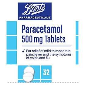 Boots Paracetamol 500mg 32 Tablets