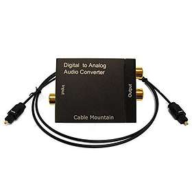 Cable Mountain Digital TOS or Coax to RCA Analogue Audio Converter