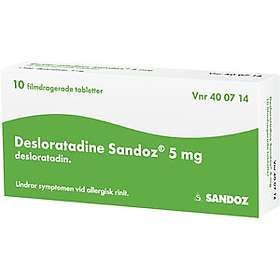 Sandoz Desloratadine 5mg 10 Tabletter