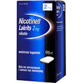 GSK GlaxoSmithKline Nicotinell Lakrits Medisinsk Tyggegummi 2mg 96stk