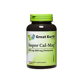 Great Earth Super Cal-Mag 600mg 300mg 100 Tabletter