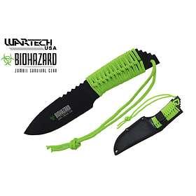 Biohazard Zombie Paracord Knife