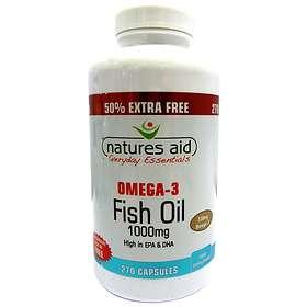 Natures Aid Fish Oil Omega 3 1000mg 270 Capsules