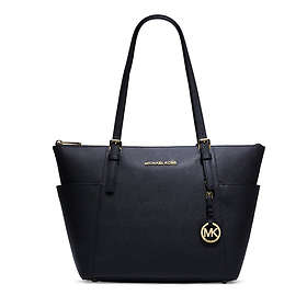 a01afa5a56f5 Find the best price on Michael Kors Jet Set Top Zip Saffiano Leather ...