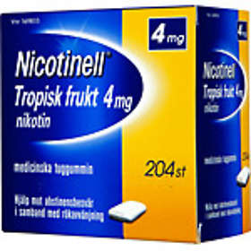 GSK GlaxoSmithKline Nicotinell Tropisk Frukt Medisinsk Tyggegummi 4mg 204stk