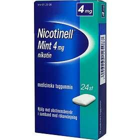 GSK GlaxoSmithKline Nicotinell Mint Medisinsk Tyggegummi 4mg 24stk
