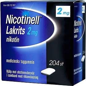 GSK GlaxoSmithKline Nicotinell Lakrits Medicinskt Tuggummi 2mg 204st