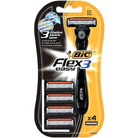 Bic Flex 3 Easy (+4 Ekstra Blader)