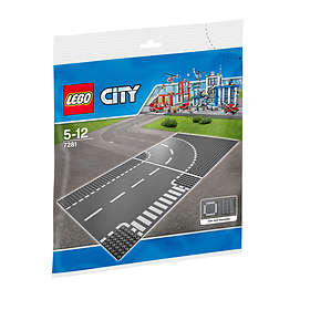 1f766673b01d Find the best price on LEGO City 7281 T-Junction Curved Road Plates ...