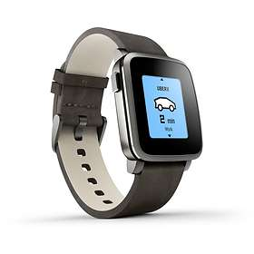 Pebble Time Steel Leather
