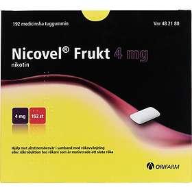 Orifarm Nicovel Frukt Medicinskt Tuggummi 4mg 192st