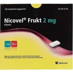 Orifarm Nicovel Frukt Medicinskt Tuggummi 2mg 192st