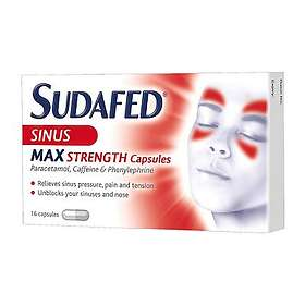 McNeil Sudafed Sinus Max Strength Blocked Nose and Sinus 16 Capsules