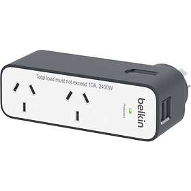 Belkin Travel Surge Protector 2-Way 2xUSB