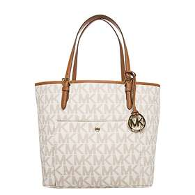 ca8cee3e81 Find the best price on Michael Kors Jet Set Logo Large Tote Bag ...
