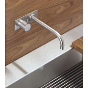 Vola Tvättställsblandare 122 (Borstad Krom)