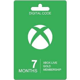 Microsoft Xbox Live Gold 7 Month Card