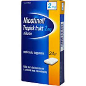GSK GlaxoSmithKline Nicotinell Tropisk Frukt Medisinsk Tyggegummi 2mg 24stk