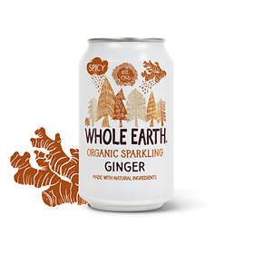 Whole Earth Lightly Sparkling Organic Ginger Burk 0,33l