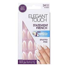 Elegant Touch Statement French False Nails 24-pack