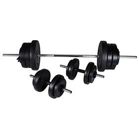 vidaXL Barbell + 2 Dumbbell Set 60,5kg