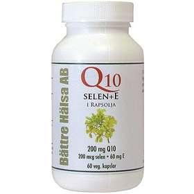 Bättre Hälsa Q10 + Selen + E 60 Kapslar