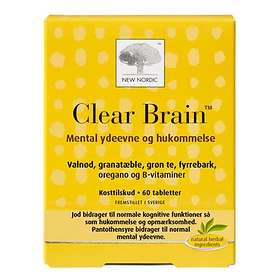 New Nordic Clear Brain 60 Tabletter