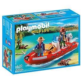 Playmobil Wild Life 5559 Gummibåt med Krypskyttere