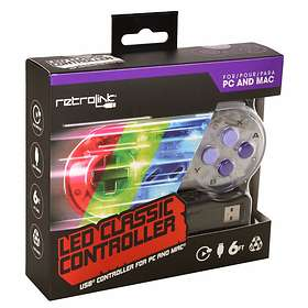 Retro-Bit Classic LED SNES USB Controlller (PC/Mac)